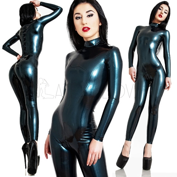 sexy black latex catsuit skin tights full body latex suit rubber latex clothing in teddies. Black Bedroom Furniture Sets. Home Design Ideas