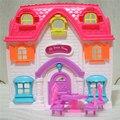 Children play table chair виллы и четыре милый маленький свинья игрушка дом