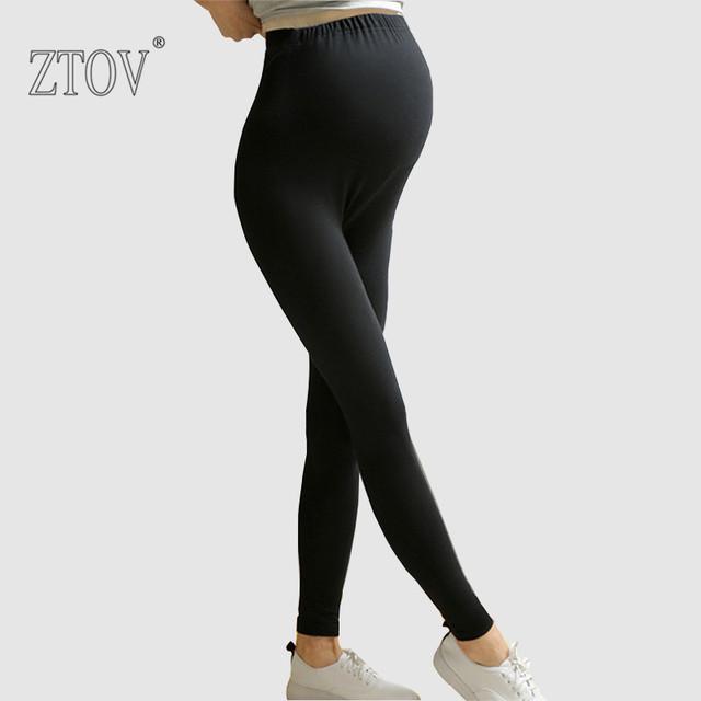 Ztov primavera outono maternidade leggings calças de algodão para as mulheres grávidas de cintura alta leggings gravidez roupas roupa de maternidade