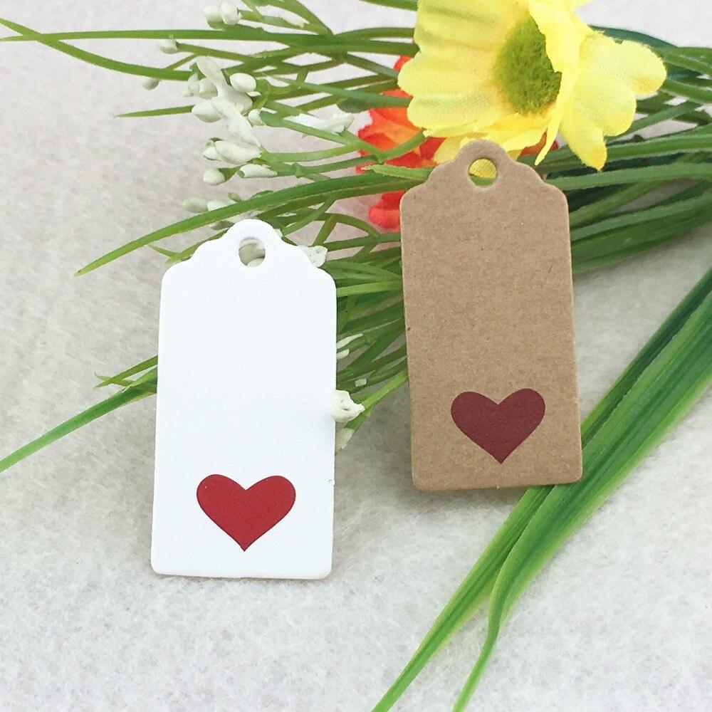 1000pcs 4*2cm Kraft Brown Hang Tags DIY Handmade Gift Tags