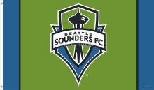Seattle Sounders  Soccer Fan Flag MLS  3x5FT Banner 100D Polyester flag brass grommets , free shipping