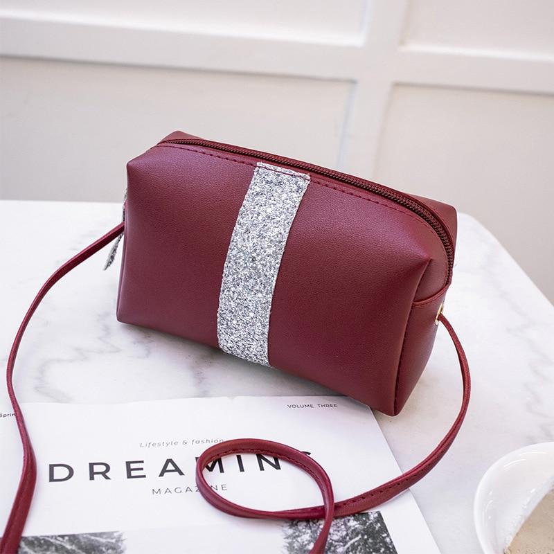 2019 Womens Bags Handbags Leather Sequins Women's Crossbody Shoulder Messenger Bags Evening Clutch Bags Ladies Purse Bolsa