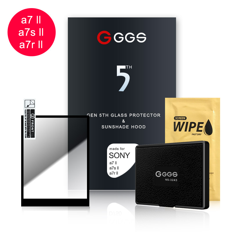 Quinta Geração GGS para SONY A7II/A7sII/A7RII R9 LARMOR proteção de tela de cinema tela de armação de Metal óptico embutido vidro