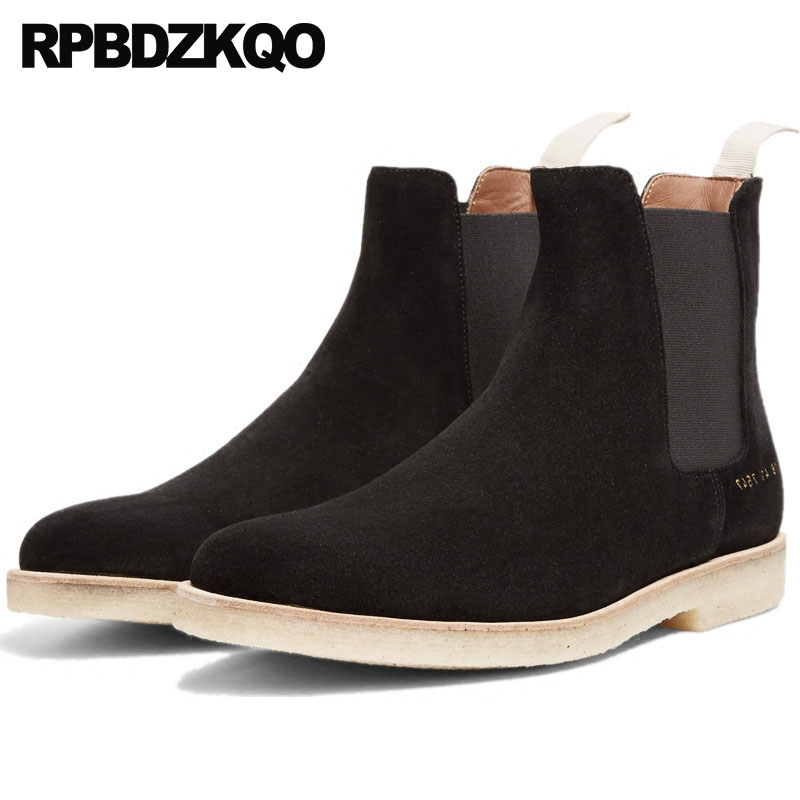 Suede Chelsea 2018 Genuine Leather Black Winter Men Boots With Fur Slip On Ankle Luxury Shoes Warm Autumn Fall Booties FashionSuede Chelsea 2018 Genuine Leather Black Winter Men Boots With Fur Slip On Ankle Luxury Shoes Warm Autumn Fall Booties Fashion