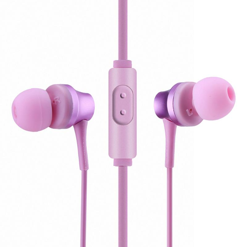 2017 New Fashion Wired Ear Hook Earphone Universal In-Ear Earphone Super Bass Headset Metal Earbuds Earpods 3.5mm Connectors  new 3 5mm in ear wired earphone