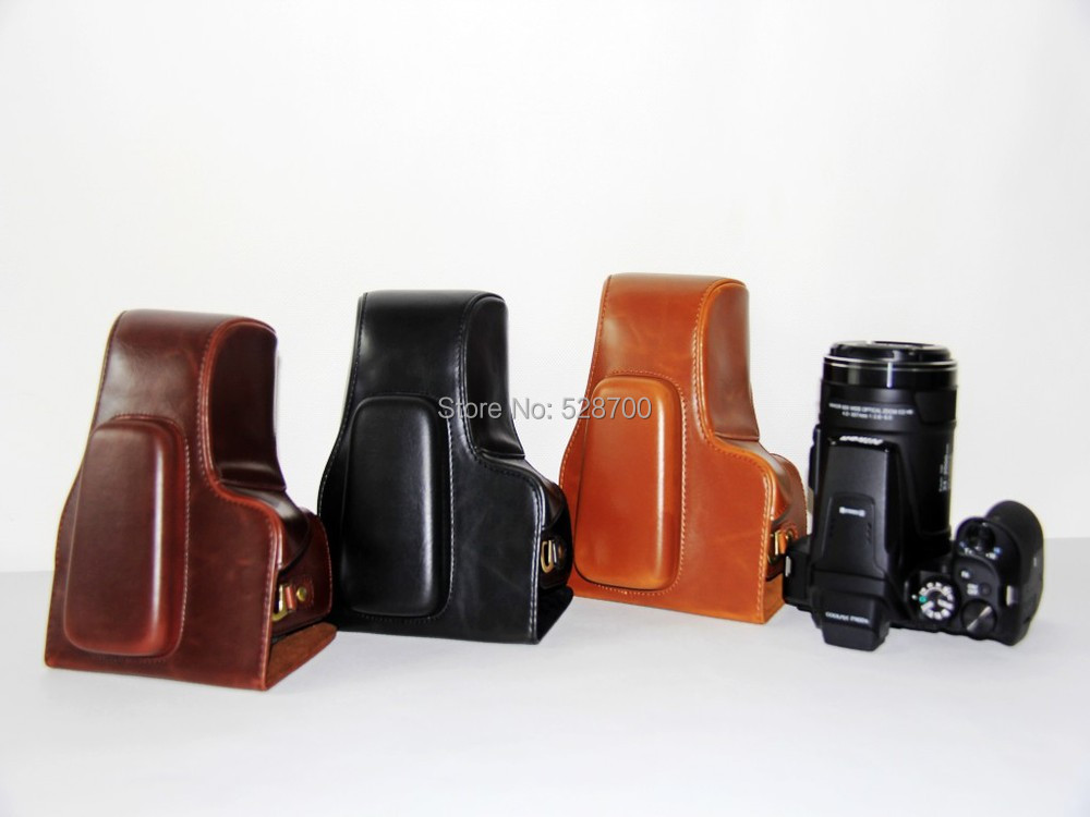 Leather Camera Case Bag Cover for Nikon Coolpix P900s P900 digital camera