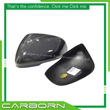 цена на For Jaguar XF XJ XK XE 2011 2012 2013 2014 Gloss Black Add on/ 1:1 Replacement Style (dry) Carbon Fiber Mirror Cover