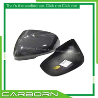 For Jaguar XF XJ XK XE 2011 2012 2013 2014 Gloss Black Add on/ 1:1 Replacement Style (dry) Carbon Fiber Mirror Cover