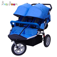 Трехколесная детская коляска для близнецов, прогулочная коляска Babyboom, внедорожный светильник, спортивная детская коляска, двойная детская Противоударная коляска BB