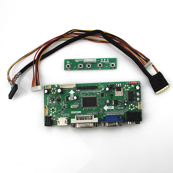 M.NT68676 LCD/LED Controller Driver Board(HDMI+VGA+DVI+Audio) For PQ 3QI-01 1024*600 LVDS Monitor Reuse Laptop