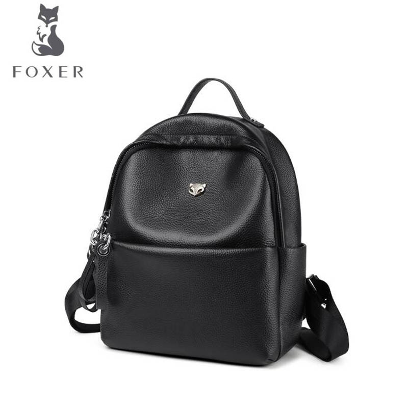 FOXER Brand 2018 New Fashion Oxford cloth shoulder bag leisure backpack College Wind Student Schoolbag foxer shoulder