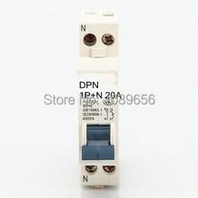 ДПН 1 P+ N 20A мини-выключатель mcb