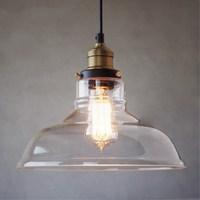 Vintage Anhänger Licht Klar Glas Anhänger Lampe für esszimmer küche bar hanglamp Beleuchtung luminaria Industrielle Leuchte-in Pendelleuchten aus Licht & Beleuchtung bei