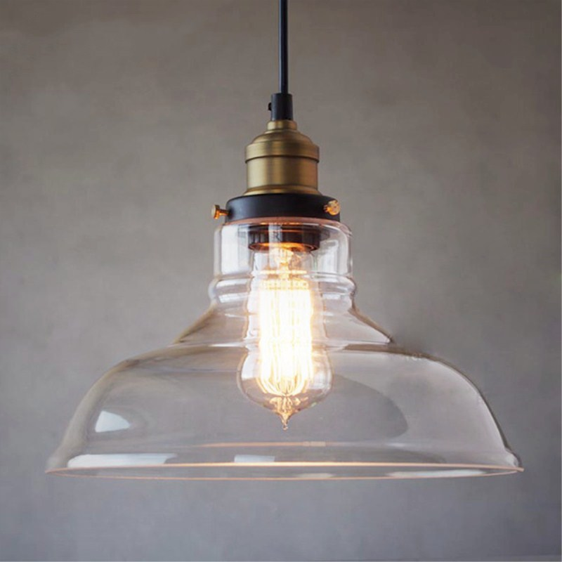 Vintage Pendant Light Clear Glass Pendant Lamp for dinning room kitchen bar hanglamp Lighting luminaria Industrial Light Fixture modern glass led pendant light hanglamp loft retro kitchen lamp metal industrial bedroom bar home lighting fixture pendant light