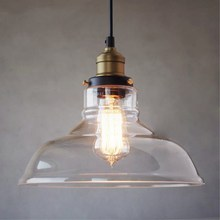 Vintage Pendant Light Clear Glass Pendant Lamp for dinning room kitchen bar hanglamp Lighting luminaria Industrial Light Fixture