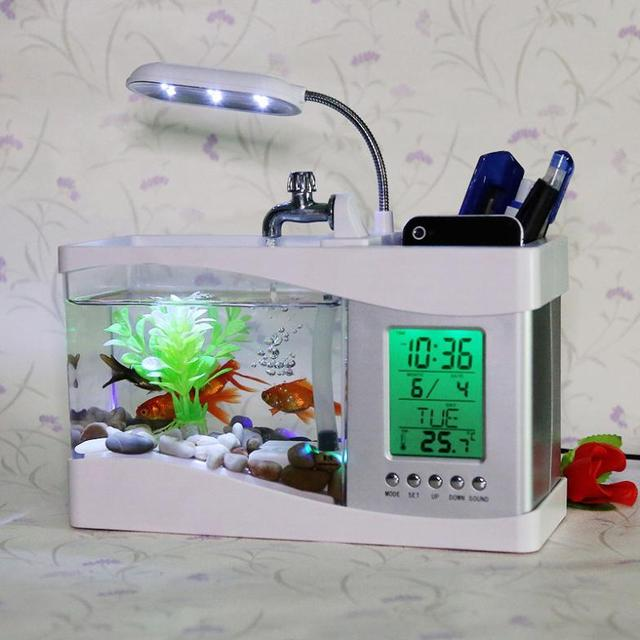 Send Special Birthday Boy Boyfriend Husband Particularly Useful Novelty USB Mini Aquarium Valentines Day Gift Ideas