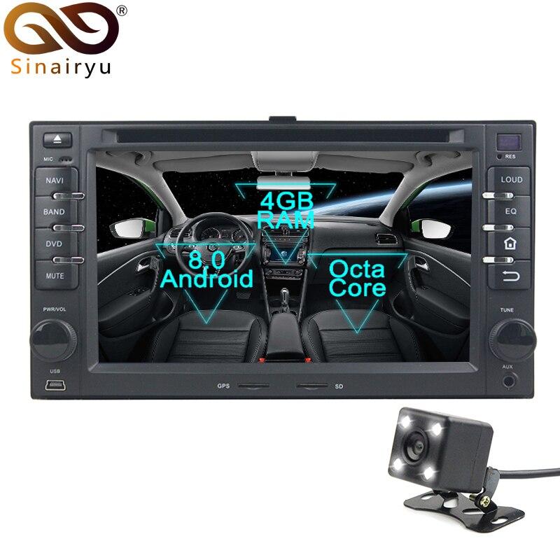 2 Din Android 8.0 Octa Core Car DVD Player for Kia Cerato Sportage Ceed Soren GPS Navi Multimedia Radio Stereo Head Unit автомобильный dvd плеер hotaudio 4 4 4 kia sportage 2010 dvd gps navi dhl ems