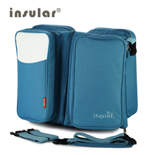 Free Shipping  2 in 1 Messenger Diaper Bag Movement Baby Bed Travelling Changing Bags Fold Baby Bed