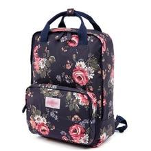 2016 mujeres de La Moda mochila bolsa de viaje de la escuela Los Estudiantes de gran capacidad de la lona floral print mochila ordenador bolsa de hombro
