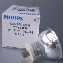 PHILIPS 13865 12V75W Dental lamp ,410719 G5.3/4.8, 12V 75W Heraeus Demetron Acubite