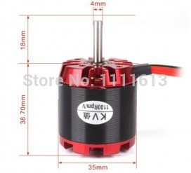 Free shipping EMP N3536 Outrunner Brushless Motor KV1250 with All Installation Accessories ...
