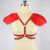 Rojo/Negro/Blanco Jaula Sujetador Lolita Harajuku, Encogiéndose de Hombros Sujetador Arnés Arnés de Plumas Pluma Pluma Sujetador Sexy Body O0350