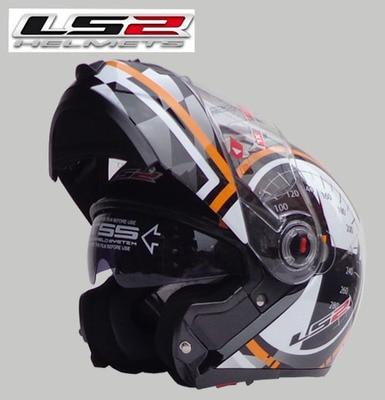 Free shipping dual lens LS2 FF370 motorcycle helmet visor exposing new cost effective full face helmet
