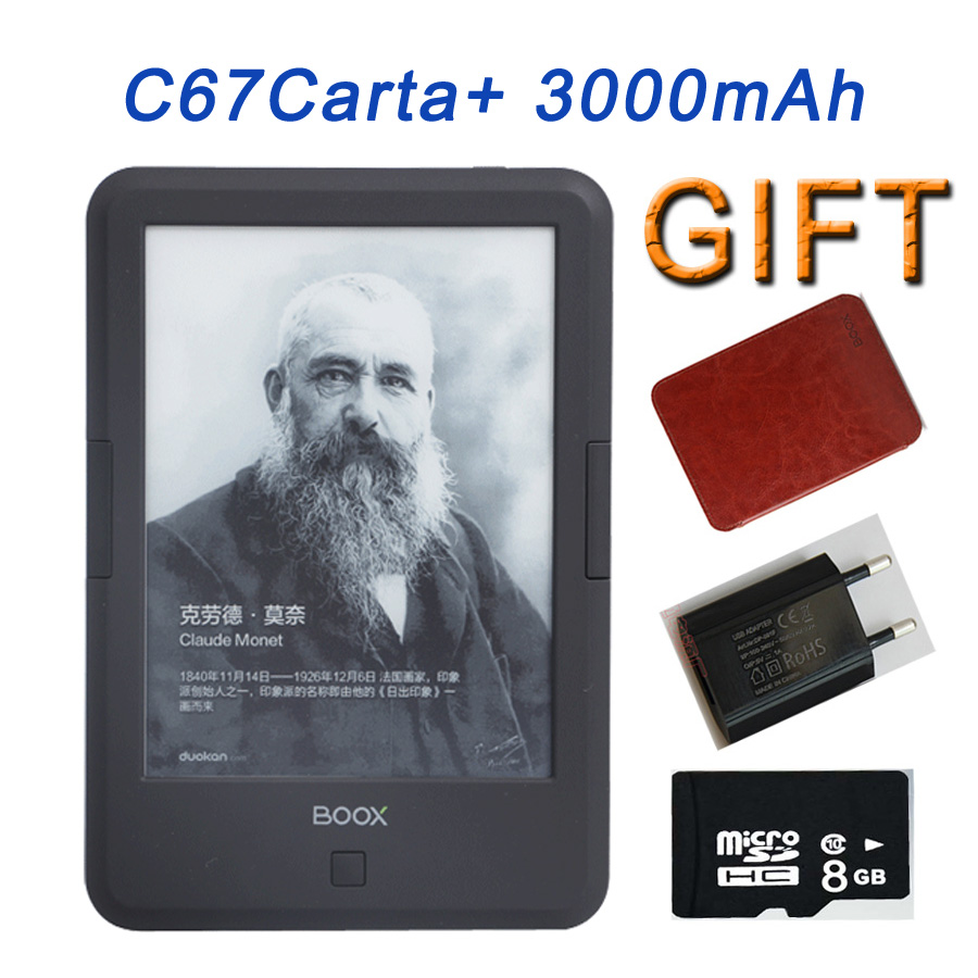 BOOX C67ML Carta+ Ebook Reader e-ink ONYX Capacitive Touch E Book Light Eink Screen E-Book E-ink E-Reader 3000mAh WIFI +Case