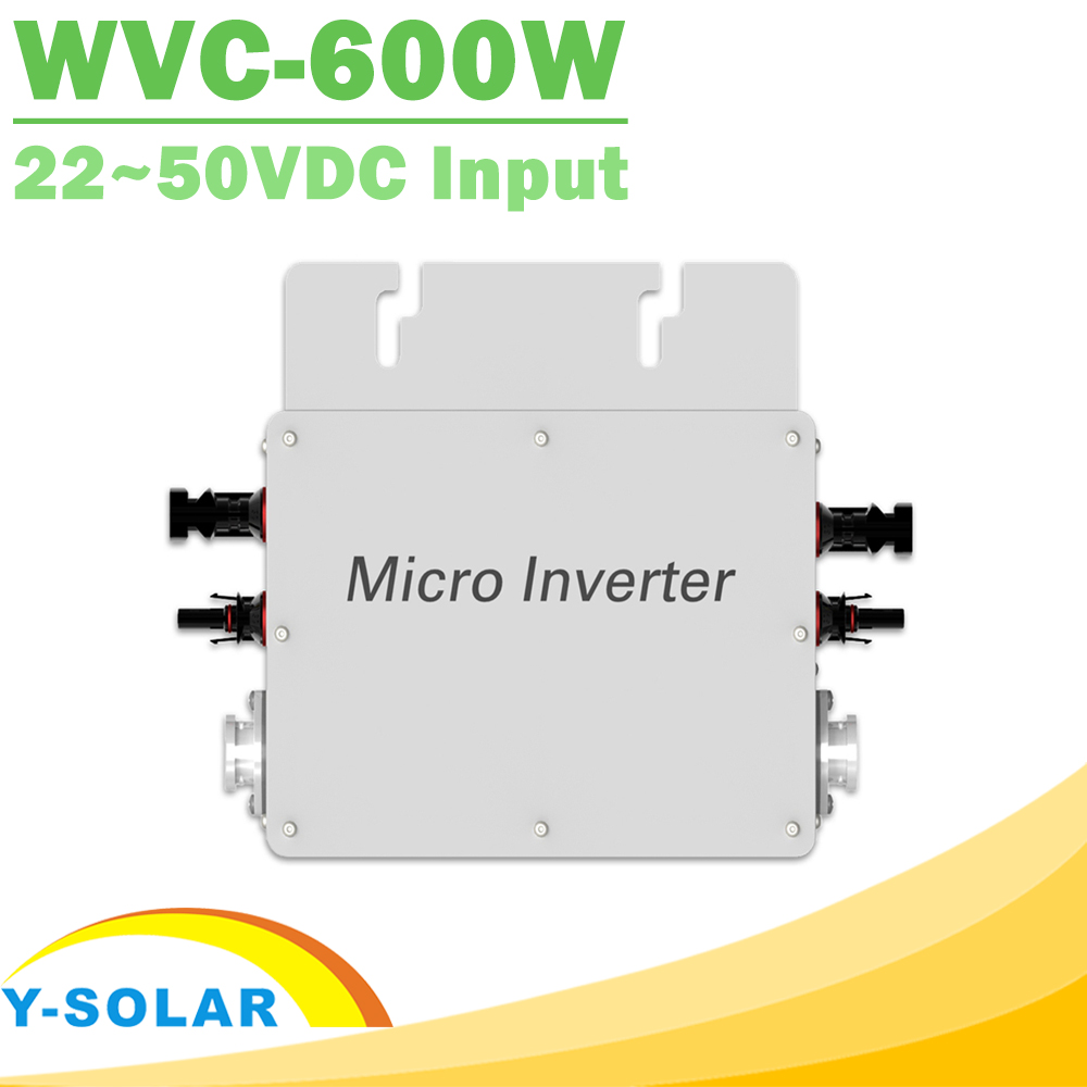 Waterproof 600W Pure Sine Wave Inverter 110V 220V On Grid Tie Micro Inverter MPPT High Efficiency Reverse Power Transmission solar power on grid tie mini 300w inverter with mppt funciton dc 10 8 30v input to ac output no extra shipping fee