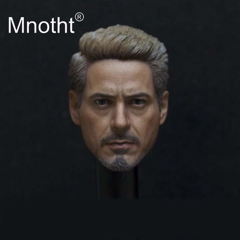 Mnotht Tony Head Sculpt 1/6 Scale Male Soldier Head Model for 12inch Action Figure Toys Collection Superhero Animation Carving все цены