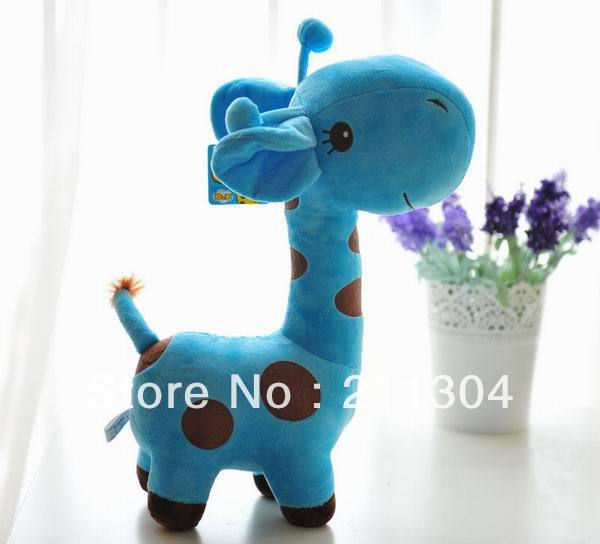 Free Shipping Plush Toy giraffe super cute doll stuffed animals 38cm tall soft toys kids friends christmas gifts(middle size) free shipping red green super mario plush doll toy 10pcs lot 9inch 23cm bat mary luigi cute gift for birthday chrismas cute toys