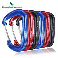 Boundless Voyage 12KN Climbing Carabiners Heavy Duty D-type Clips Aluminum Alloy Hook for Hammocks Camping