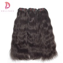 Dollafce Brazilian Virgin Hair Natural Straight Raw Hair Weave Bundles Hair Extension Natural Color Free Shipping(China)