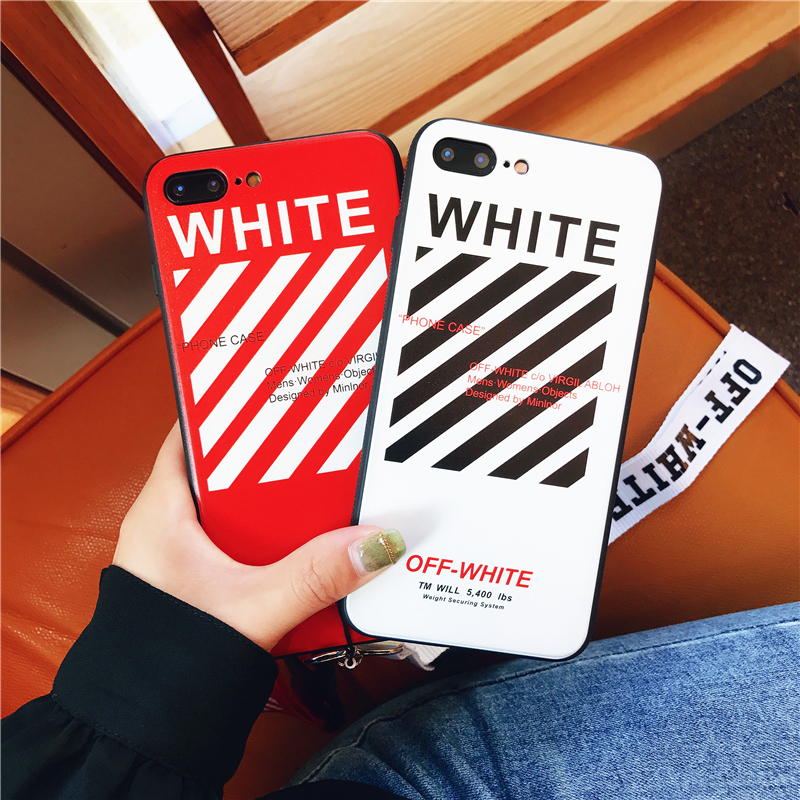 Person - Off Twill Lanyard Soft Black Tpu Phone Case for IPhone X XR XS Max 8 7 6 6S Plus White Back Cover Offwhite
