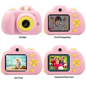 Image 2 - 子供カメラミニカートンデジタル一眼レフスマートカメラデュアルレンズ 2.0 インチ 12MP 落下防止のためのおもちゃカメラ女の子クリスマスギフト