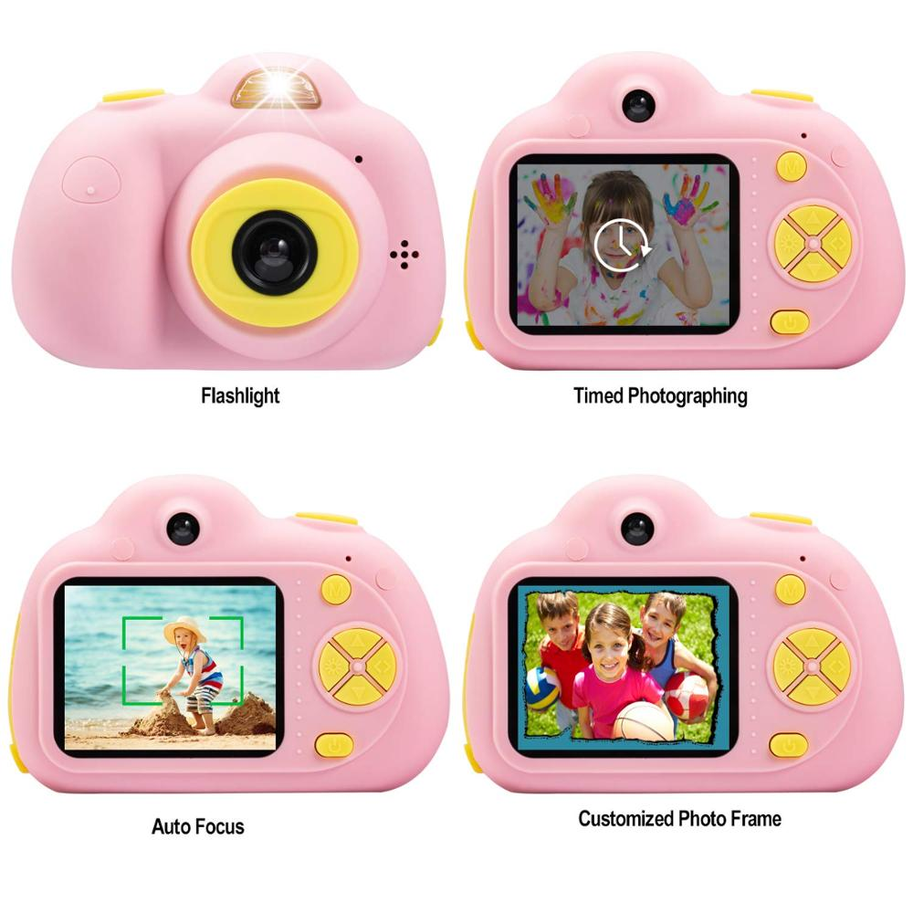 Image 2 - Kids Cartoon Camera Digital SLR 8MP 2inch Smart Camera Shockproof Fixed Focus Toy Cameras For Children Christmas Gift Boy Selfie-in Point & Shoot Cameras from Consumer Electronics