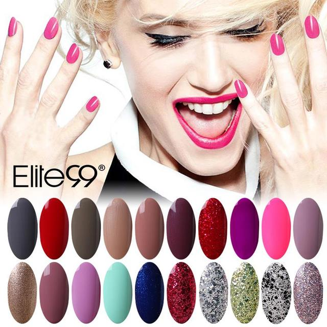 Elite99 7ml LED UV Nail Gel Long Lasting Hot Sale Gel Lacquer DIY Nail Art Colorful Nail Gel UV Gel Set UV LED Lamp Curing