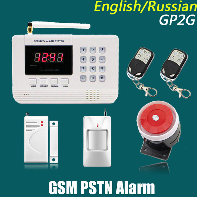 New arrivel 433Mhz Remote Control Wireless GSM sms call PSTN phone line dual network Home Security gsm Alarm System