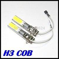 2Pcs Lot High Power H3 20W 10W Cob Led Super Bright H3 Car Vehicle LED White