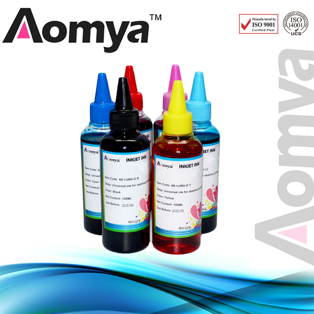 6PCS T0791 T0796 Universal Dye Ink Refill Ink Kit 100ml For Epson Stylus Photo 1430 1400