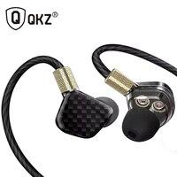 Original QKZ KD6 Earphone 6 Units Balanced Earphones 3 Dynamic Driver System Speakers HIFI Bass Fone