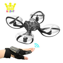 Mini Foldable Glove Hand Sensor Wifi Control RC Helicopter Toys with HD Camera Gesture Sensing