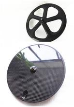 free shipping carbon fornt 5 spokes rear disc wheels700C powerway R13 ceramics 3K 12K UD matte