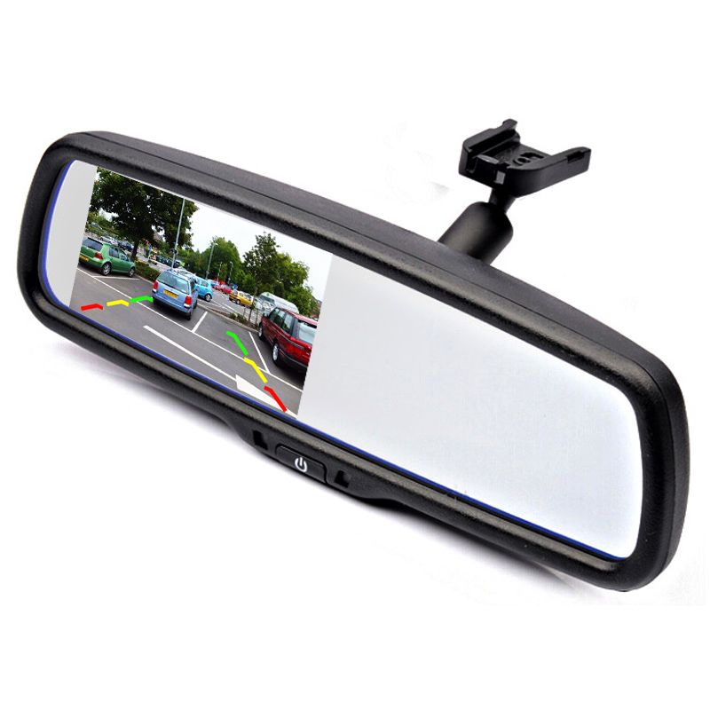 цена на 4.3 TFT LCD Car Parking Rearview Mirror Monitor With Special Bracket For VW Audi Ford Toyota Nissan Mazda Hyundai Kia Honda
