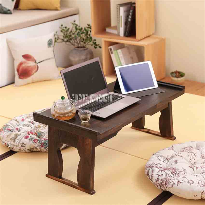Japanese Style Antique Foldable Rectangle Solid Wood Tea Table Paulownia Wood  Small Coffee Table Living Room Tatami Low Table