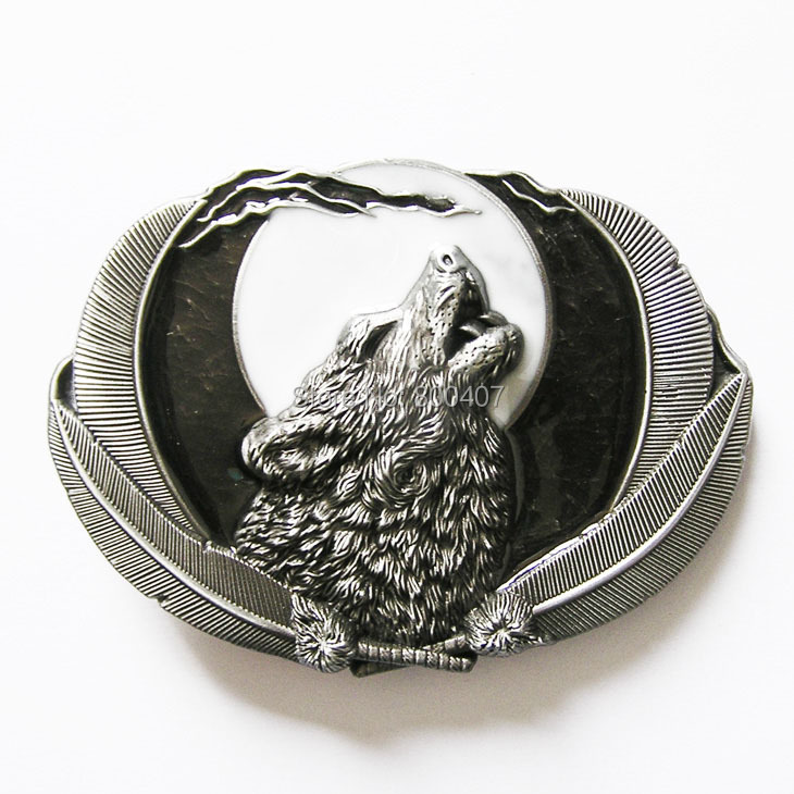 jeansfriend new vintage western wolf moon oval belt buckle gurtelschnalle boucle de ceinture. Black Bedroom Furniture Sets. Home Design Ideas