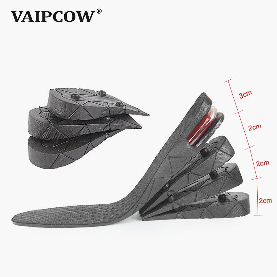 3-9cm Height Increase Insole Cushion Height Lift Adjustable Cut Shoe Heel Insert Taller Women Men Unisex Quality Foot Pads