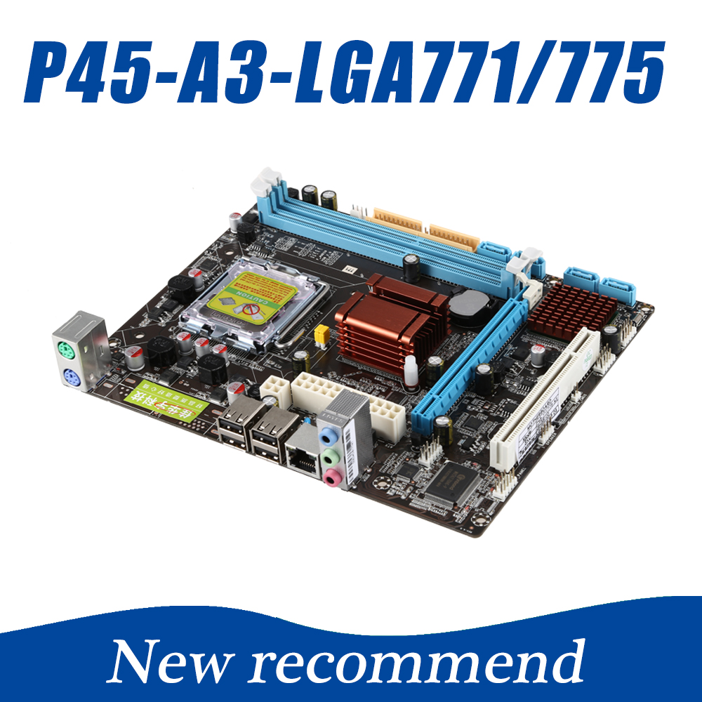 New Deaktop High Compatibility P45 Computer Motherboard LGA 771/775 Mainboard 8GB 2*DDR3 PC Motherboard 216*170mm 100% new ati 216 0728018 216 072018 new bga ic chips 2016year