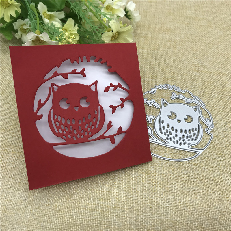 Branch Owl Lace Metal Cutting Dies Stencils For DIY Scrapbooking Decorative Embossing Handcraft Die Cutting Template