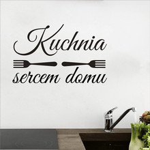 Dekoracja Kuchni Kuchnia Sercem Domu Naklejka Winylowa , Poland Wall Art Decals Kitchen Is The Heart Of The House Vinyl Stickers